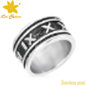 Fashion Stainless Steel Lucky Stone Finger Ring