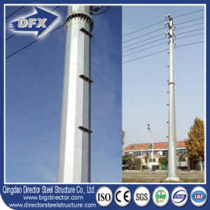Telecommunication Monopole Steel Tower for Communication pictures & photos