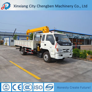 Small Dumping Automatically Cargo Truck with 5 Tons Crane pictures & photos