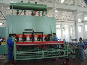 Short Cycle Melamine Paper Laminating Hot Press Machine pictures & photos