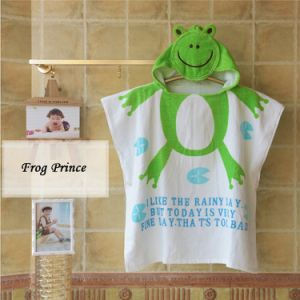 China Supplier Top Quality Kids Beach Poncho Hooded Towel pictures & photos