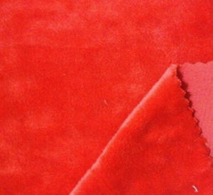 Polyester Super Soft Velvet Fabric/Short Plush Fleece Fabric Material for Sofa, Bedding. pictures & photos