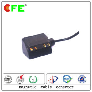 4pin Black Magnetic Power Connector with Cable for Werable Products pictures & photos