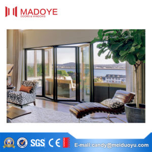 Double Glazing Soundproof Heavy Duty Bi-Folding Doors for Balcony Entrance pictures & photos