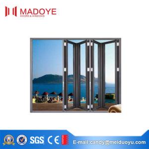 2017 Aluminium Folding Door with Tempered Glass pictures & photos