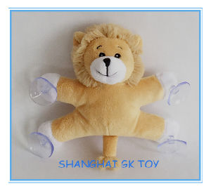 Promotion Gift Plush Lion with Suction Cup pictures & photos