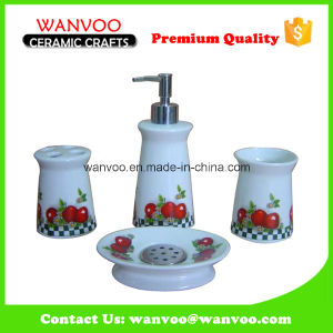 Fine Quality Custom Handmade Ceramic Bathroom Set Decal Fruit Paper pictures & photos