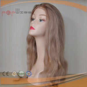 Human Hair Golden Full Lace PU Back Hot Selling Women Wig pictures & photos