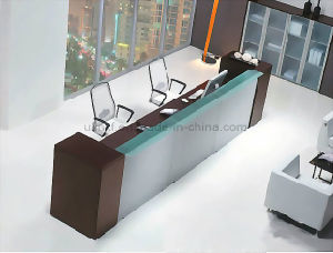 Hot Selling Office Furniture Melamine Reception Desk (HX-RT801) pictures & photos
