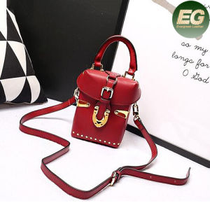 Best Selling Stylish Handbag Rivet Lady Small Size Shoulder Bags Emg4799 pictures & photos