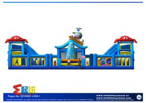 Sea World Themed Inflatable Bounce with Ball Pool pictures & photos