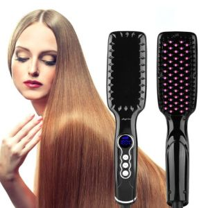 2016 Newest Black Hair Brush Straightener pictures & photos