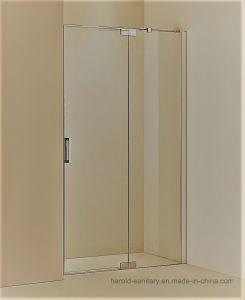 Hr-03-D Pivot Hinge Open SGCC Tempered Glass Shower Door pictures & photos