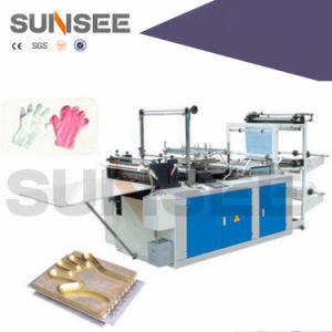 Full Automatic Double Layer Disposable Plastic Glove Making Machine for Kfc pictures & photos