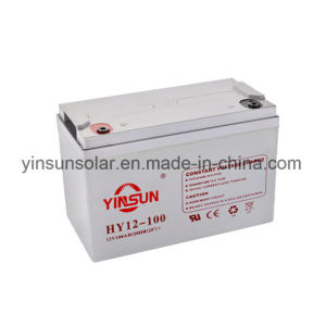 12V100ah Solar Battery for Medical Equipment pictures & photos