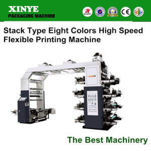 8 Color Plastic T-Shirt Bag Offset Flexible Printing Machine in China pictures & photos