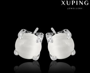 Fashion Big Oval Stone Stainless Steel Jewelry Earring Stud pictures & photos