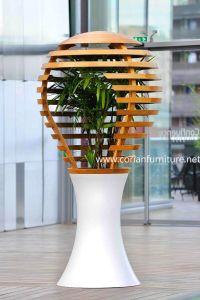 Design Indoor Corian White Plant Pot pictures & photos
