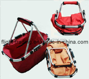 Lightweight and Durable Two Handle Storage Picnic Basket Bag pictures & photos