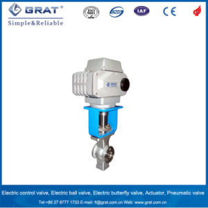 Wafer Stainless Steel Electric Control Valve for Calcium Carbonate Slurry pictures & photos