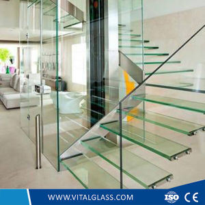 Bent Window Decorative Colored Glass/Toughened Mosaic Acid Etched Patterned Glass pictures & photos
