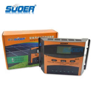 Suoer Factory Price Solar Charge Regulator 12V 60A PWM Solar Charge Controller (ST-C1260) pictures & photos