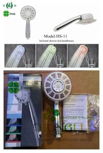 RGB 3colors Good Quality LED Hand Shower and LED Shower Head pictures & photos