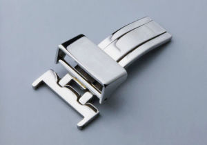 16 18 Silver Watch Strap Buckle Solid Deployant Clasp Butterfly Fold Spring Bar Style Watch Buckle pictures & photos
