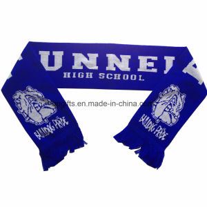 Hot Sale 100% Acrylic Football Mini Fan′s Knitting Infinity Scarf pictures & photos