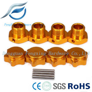 Hex Hubs Adapter Nut with Anti-Dust Cover for RC Car Wheel