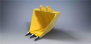 Chinese V Type Komatsu Ditching Excavator Bucket with Four Teeth pictures & photos
