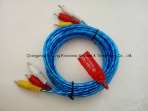 High Speed 3r to 3r Audio/Video AV RCA Cable pictures & photos