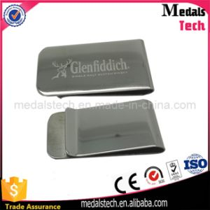 High Quality Custom Gold Plated Brass Money Clip with Engraved Logo pictures & photos