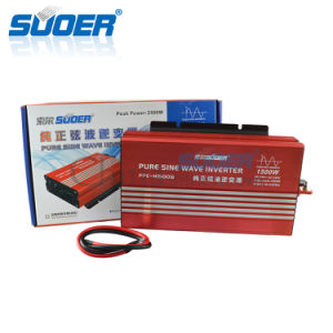 Suoer Solar Power System 24V 220V 1500W Pure Sine Wave Frequency Inverter (FPC-H1500B) pictures & photos