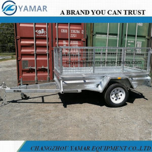 Entry Level Galvanized Box Trailer with Cage pictures & photos