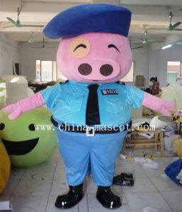 Justice Police Pig Mascot Costume