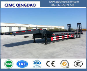 3 Axles New 60tons Low Bed Truck Trailer pictures & photos