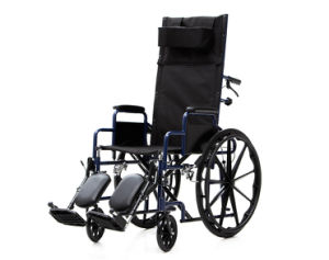 Steel Manual, Reclining Chair, Folding Wheelchair (YJ-011L) pictures & photos