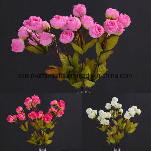Cheap Rose Fake Decorative Flowers Flower Bouquet with 21heads pictures & photos