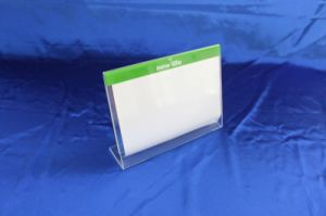 Customize Clear Desktop Acrylic Holder Menu Stand pictures & photos