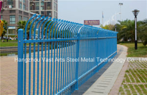 Haohan Beautiful Security Garden Industrial Residential Blue Arc Fence 44 pictures & photos