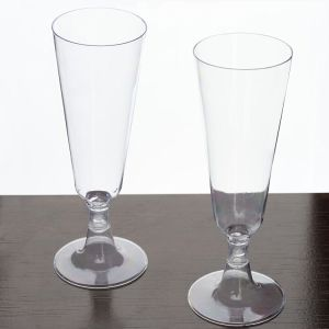 Two-Piece Hard Plastic Mimosa/Champagne Flutes, 5 Oz, Clear pictures & photos