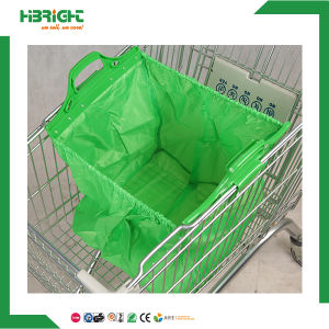 Reusable Polyester Folding Shopping Cart Bag with Two Handles pictures & photos