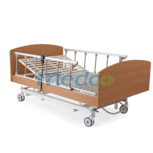 Ce& ISO Home Care Furniture, Adjustable Three Functions Wooden Electric Home Care Bed pictures & photos
