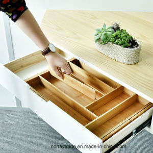 Expandable Bamboo Drawer Organizer with Adjustable Dividers pictures & photos