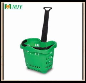 Supermarket Plastic Roll Shopping Basket Mjy-Tr04 pictures & photos
