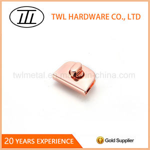Half Oval Simple Design Alloy Hardware Turn Lock for Bags pictures & photos