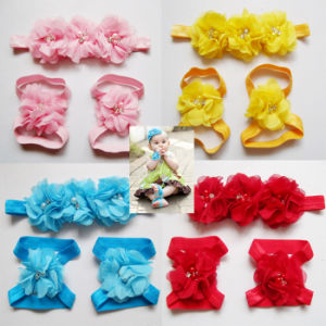 Good High Quality Foot Flower Baby Barefoot Sandals pictures & photos