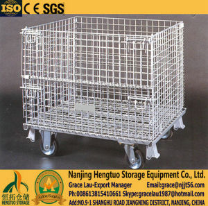 Collapsible & Folding Metal Wire Mesh Stillages, Wire Mesh Pallet Container Stillages, Metal Stillages for Warehouse Storage pictures & photos
