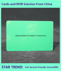 Blank Plastic Green Card of Cr80/30mil for Retailer Stock pictures & photos